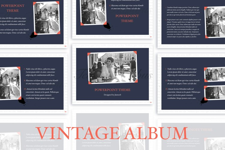 Vintage Album PowerPoint Template example image 1
