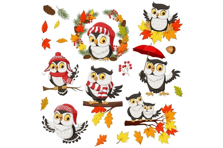 Owl Fall Autumn Bundle example image 1