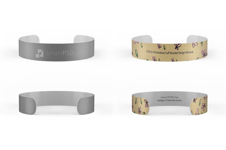 0.55 in Chromaluxe Cuff Bracelet Design Mockup example image 1
