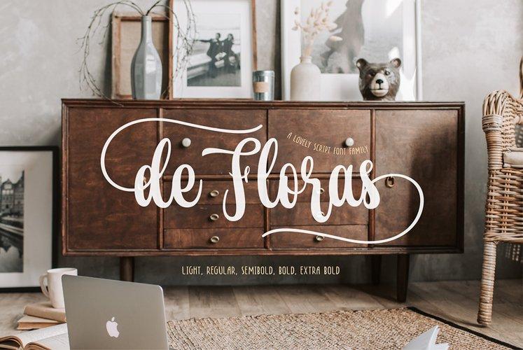 de Floras - 5 Fonts Family example image 1