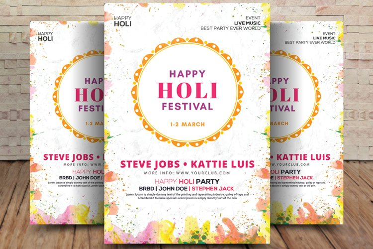 Holi Festival of Colors Flyer example image 1