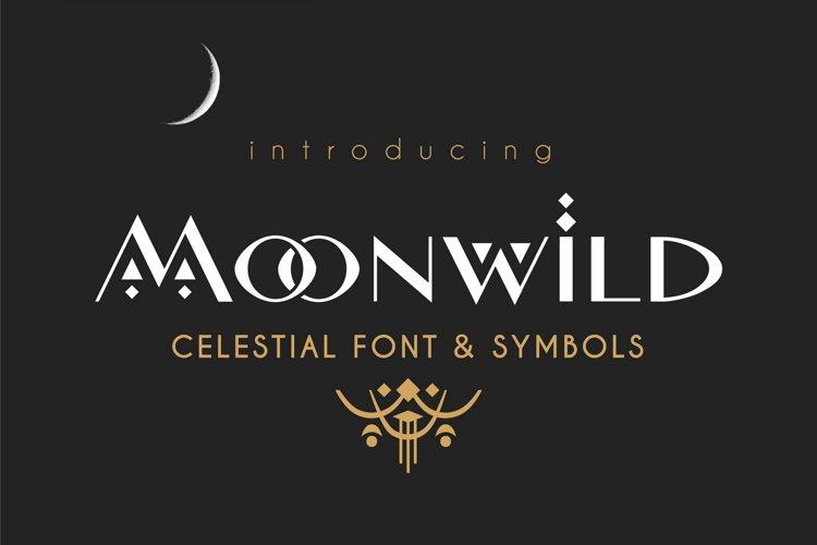 Moonwild - Celestial Font & Symbols example image 1