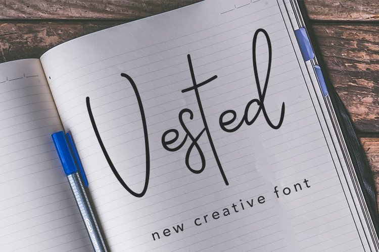 Web Font Vested example image 1