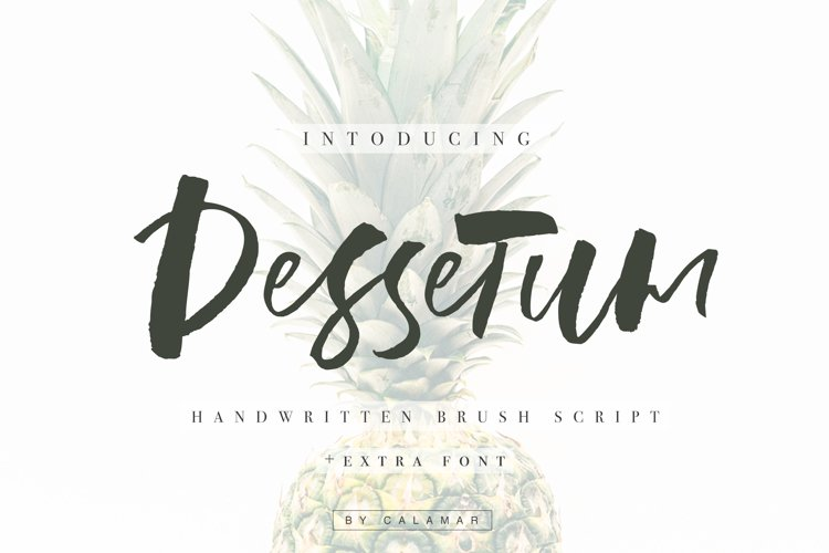 Dessetum Font example image 1