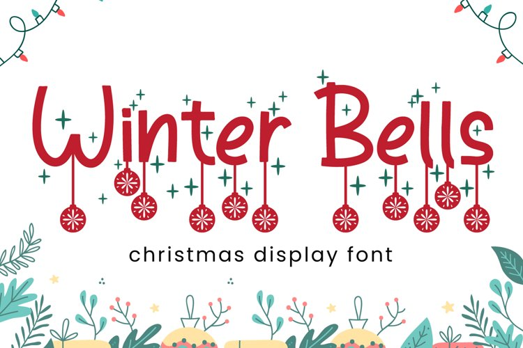 Winter Bells - Christmas Font example image 1