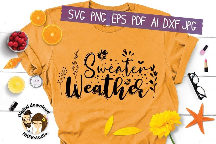 Sweater Weather Svg example image 1