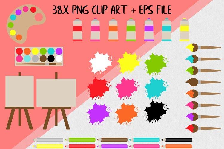 Art Supplies Clip Art example 1