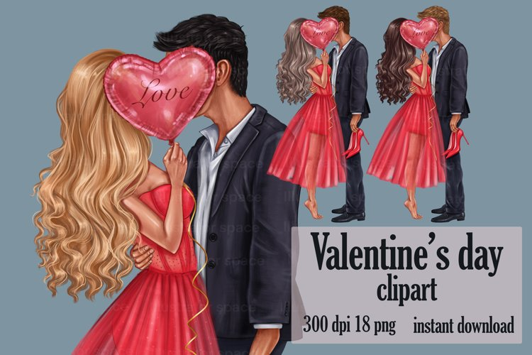 Valentines Day Clipart, Love Couple Clip Art