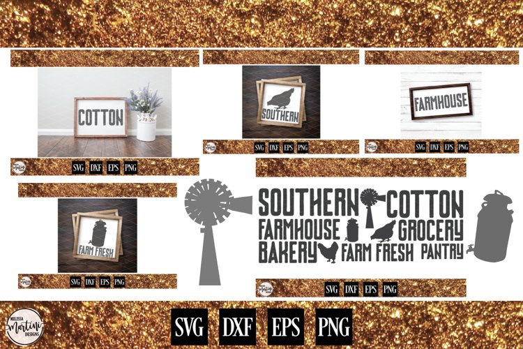Mix & Match Farmhouse Words with Elements example image 1