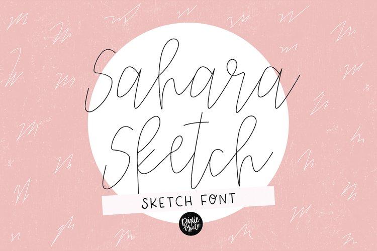SAHARA SKETCH Sketch Font - Single Line/Hairline Font