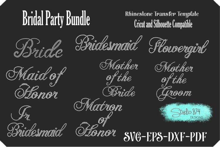 Bridal Party Bundle - Rhinestone SVG Transfer Template example image 1