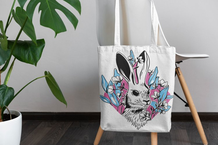 Spring Bunny SVG cut file example 1