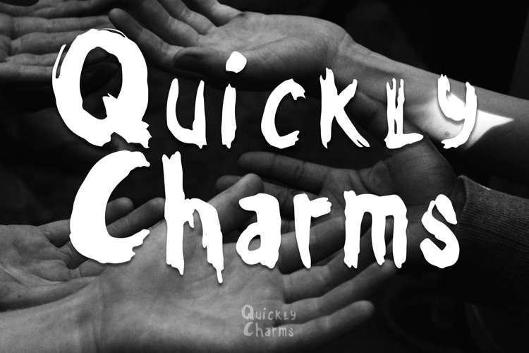 Quickly Charms - Brush Font example image 1