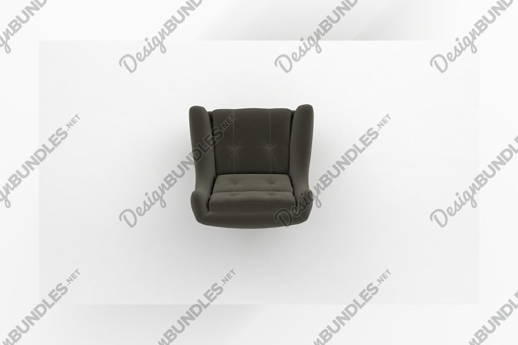 Luxury office chair top view furniture 3d rendering example image 1