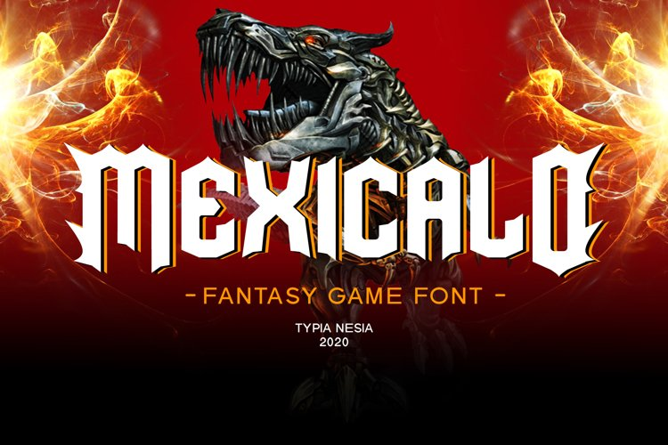 Mexicalo Game Font example image 1