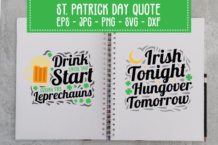 Saint Patrick's Day Quotes SVG Bundle example image 1