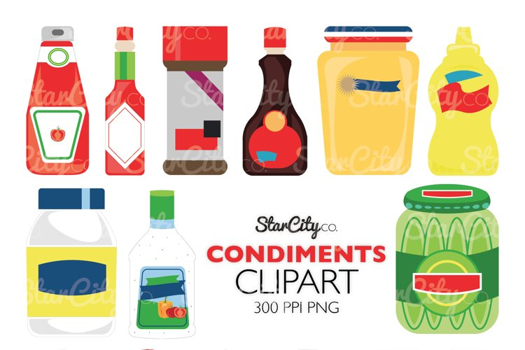 Ketchup and Mustard Clipart for commercial use