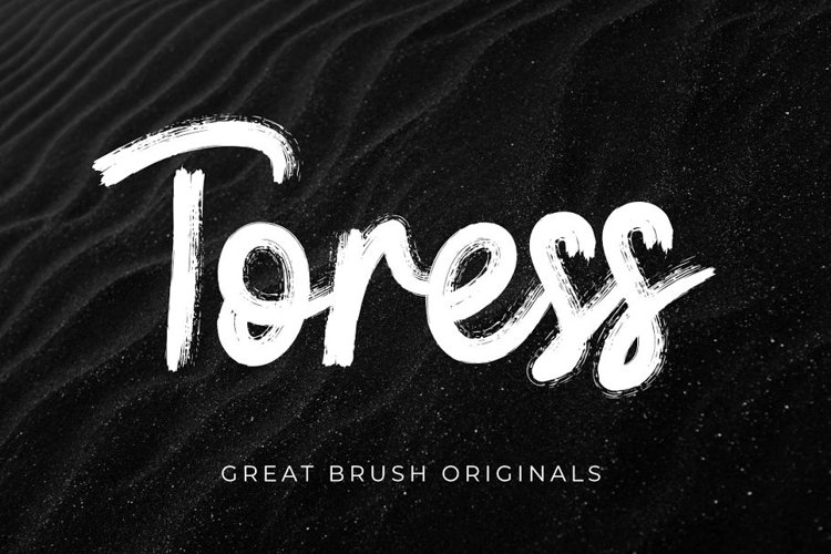 Toress   A Brush Font example image 1