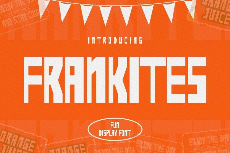 Web Font Frankites Font example image 1