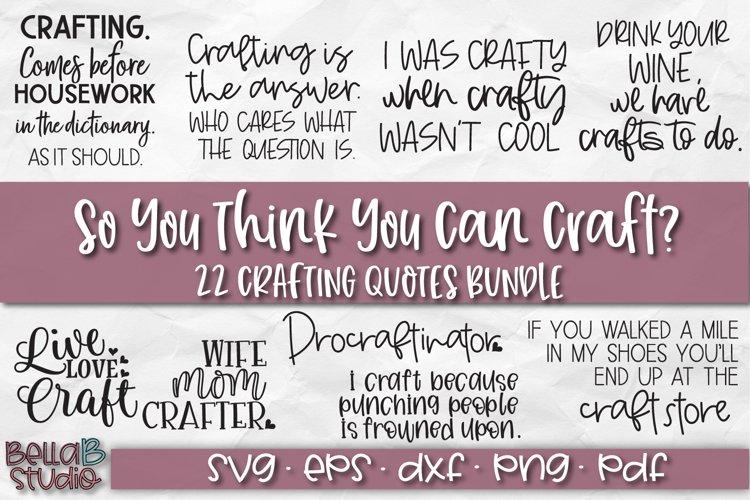 Funny Crafting SVG Bundle, Crafting Quotes SVG Bundle