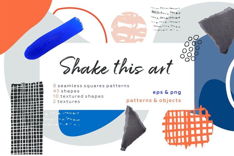 Shake this art! Collage pattern set. example image 1