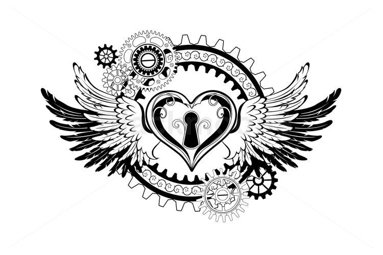 Winged Mechanical Heart