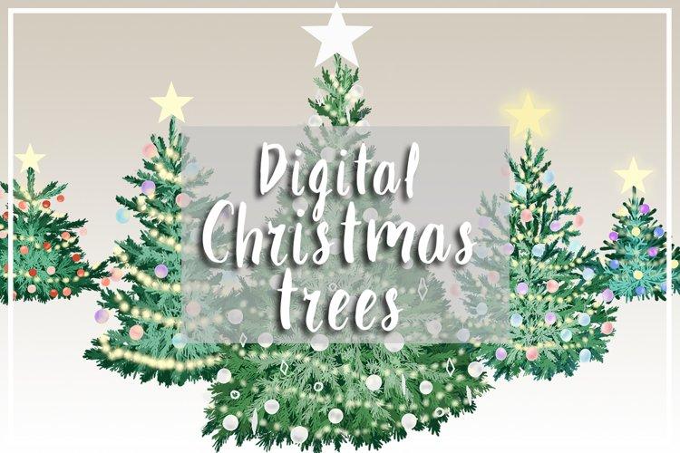 Digital Christmas trees