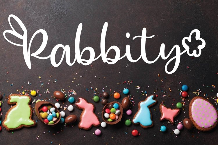 Web Font Rabbity - A Spring Font With Ears & Cotton Tails example image 1