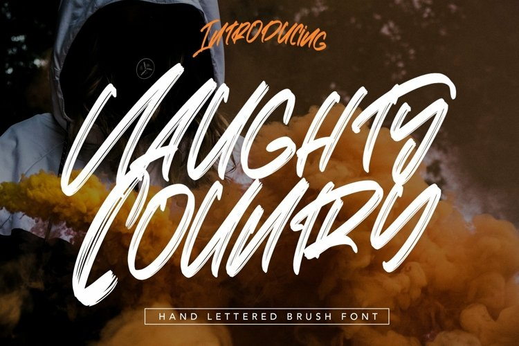 Web Font Naughty Country - Hand Lettered Brush Font example image 1