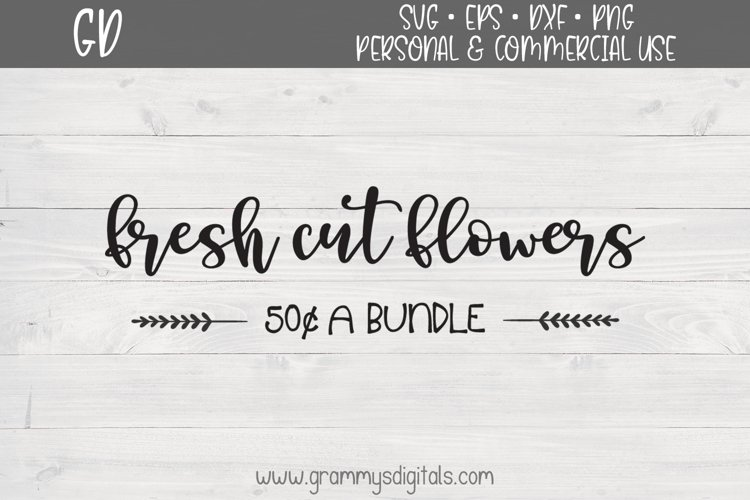 Fresh Cut Flowers SVG File example image 1