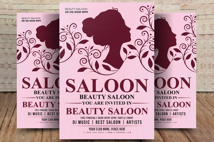 Hair Beauty Salon Flyer Templates example image 1