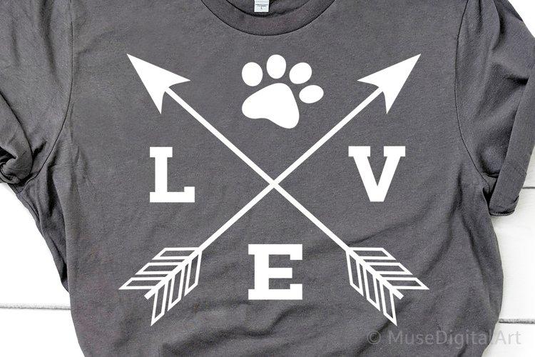 Love with Paw Svg, Fur Mom Svg, Dog Mom Svg, Cat Mom Svg