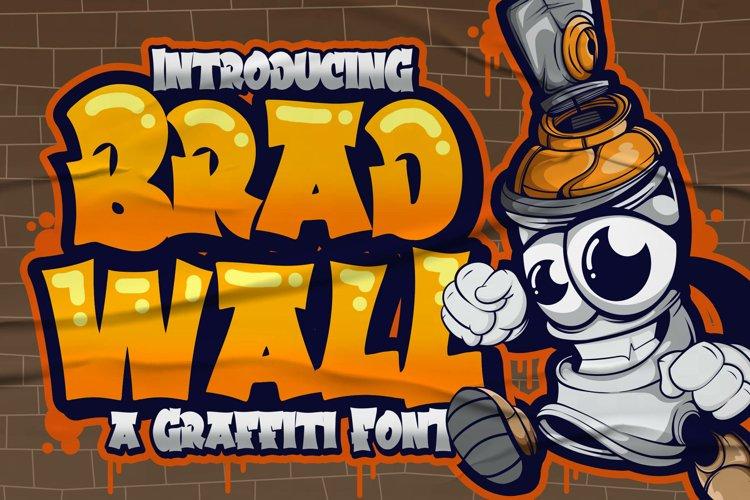 Bradwall Graffiti Font example image 1