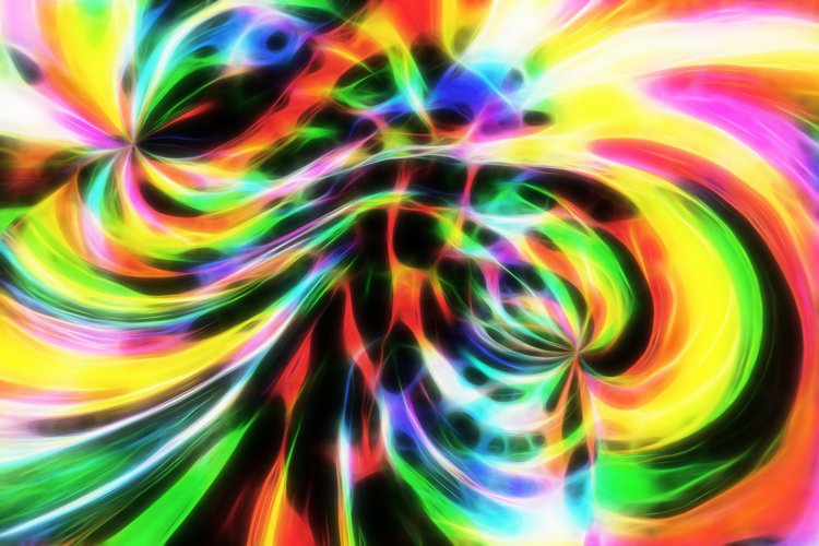 Abstract fractal neon texture fantastic background. example image 1