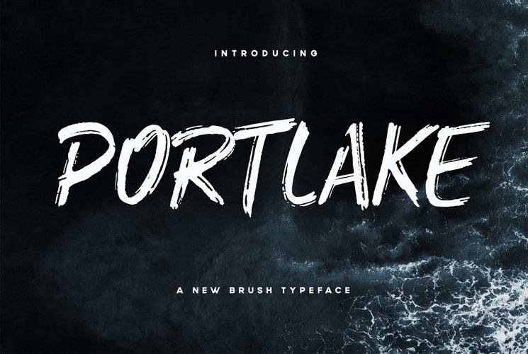 Portlake Brush Typeface example image 1