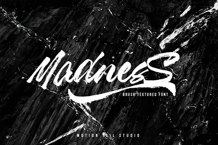 Madness Textured Brush Font