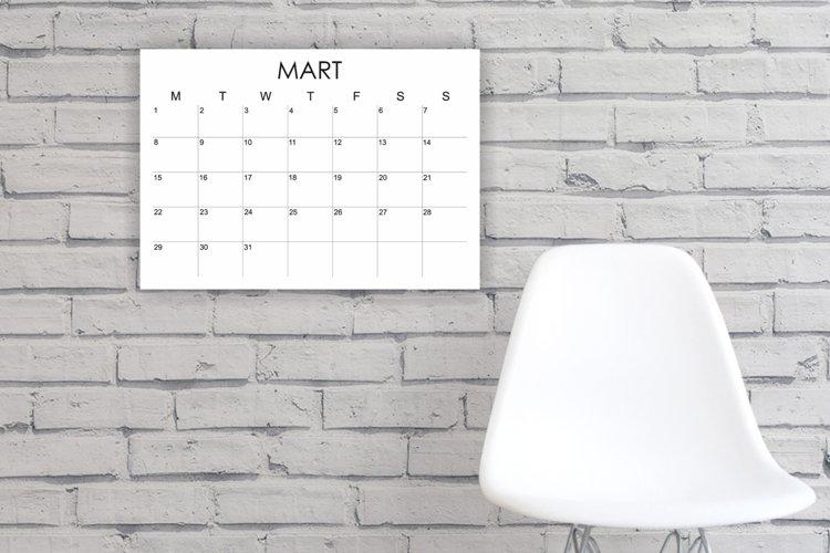 2021 Printable Calendar, 2021 Large Wall Calendar example image 1
