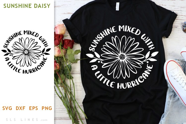 Sunshine Mixed with Hurricane SVG - Daisy Design