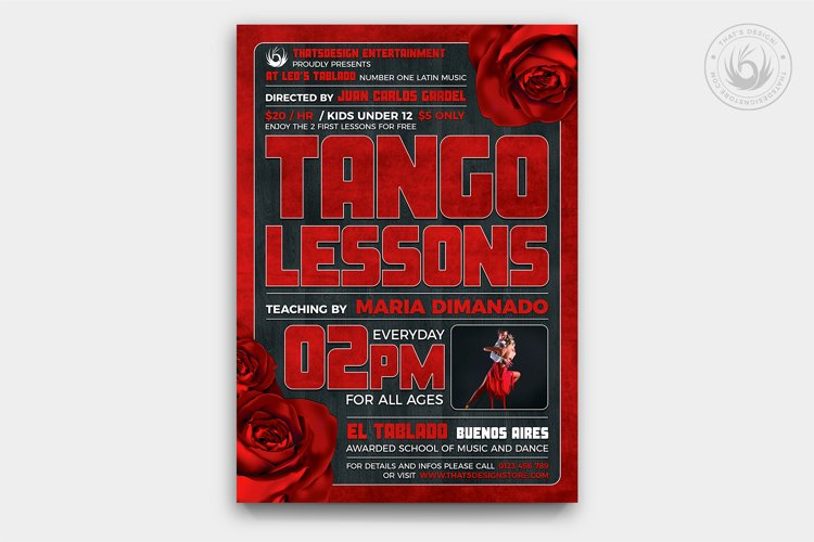 Tango Flyer Template V2 example image 1