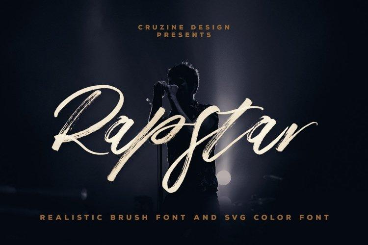 Rapstar Brush & SVG Font example image 1