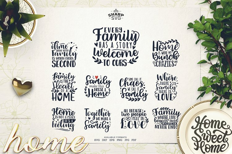 Family Sayings SVG - Family Quotes SVG - Family SVG Bundle