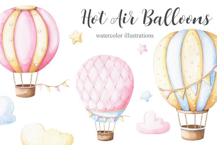 Watercolor Hot Air Balloons