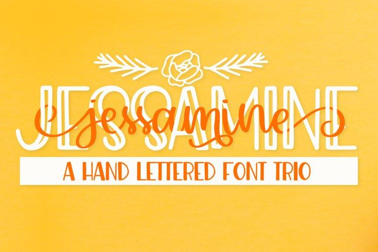Jessamine - A Script, Print & Doodle Trio example image 1