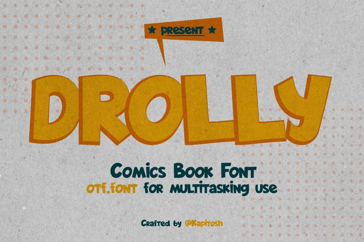 Drolly comics book funny font example image 1