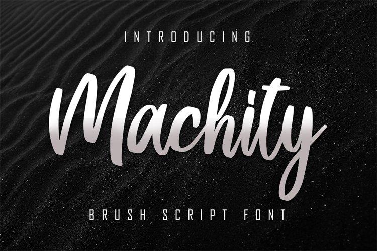 Machity Brush Script example image 1