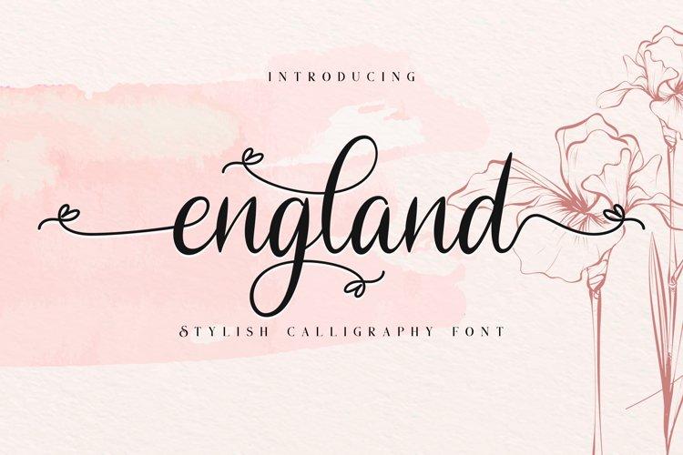 England // Stylish Calligraphy Font example image 1