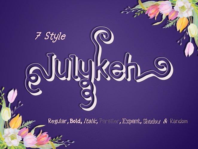 Julykeh handmade 7 Style Font example image 1