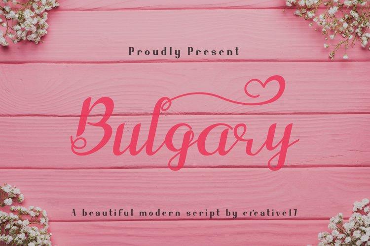 Bulgary Script font