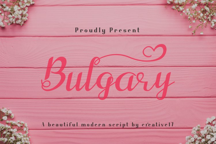 Bulgary Script font example image 1
