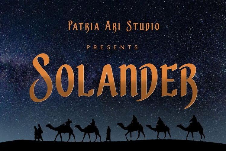 Solander Arabic Fonts